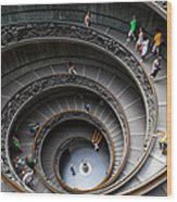 Vatican Spiral Staircase Wood Print by Inge Johnsson