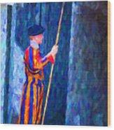 Vatican Swiss Guard Wood Print