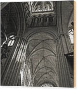 Vaults Of Rouen Cathedral Wood Print