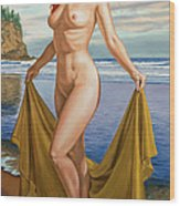 Vaunt At The Beach Wood Print