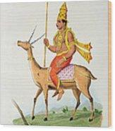 Vayu, Engraved By C. De Motte Wood Print
