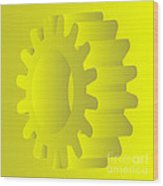 Vector Gears Wood Print