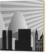 vector Rio de Janeiro skyline Wood Print