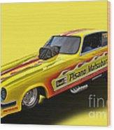 Vega Funny Car Wood Print