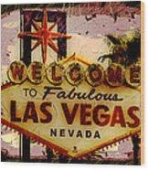 Vegas Destructed Wood Print