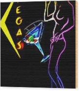 Vegas Girls Wood Print by Steve K