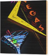 Vegas Martini Wood Print