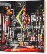 Vegas Nights Wood Print