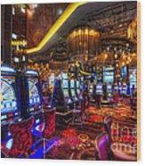 Vegas Slot Machines Wood Print