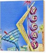 Vegas Street Art Wood Print