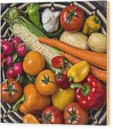 Vegetable Basket    Wood Print