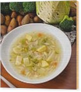 Vegetable Soup Wood Print