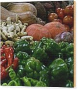 Vegetables In Chinese Market Wood Print