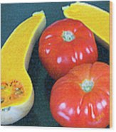 Veggies And Colors Wood Print