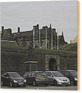 Vehicles At The Parking Lot Of Stirling Castle Wood Print