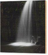 Veil Of Light Wood Print