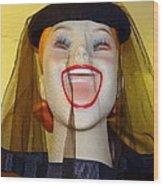 Veiled Laugh Wood Print