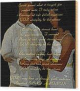 Vein Of Love Poem Wood Print