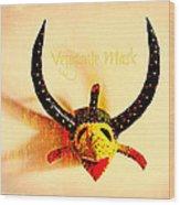 Vejigante Mask Wood Print by Lilliana Mendez