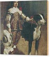 Velazquez, Pupil Of 17th Century. Court Wood Print