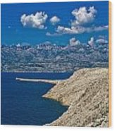 Velebit Mountain From Island Of Pag Wood Print