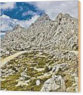 Velebit Mountain Road Serpentine Near Tulove Grede Wood Print