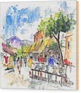 Velez Rubio Market 02 Wood Print