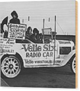 Velie Six Radio Car Wood Print