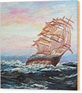 Veliero In Navigazione Wood Print
