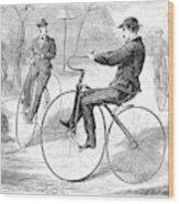 Velocipedes, 1868 Wood Print