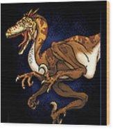 Velociraptor Attack Wood Print
