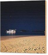 Velvet Night On The Island Wood Print by Jenny Rainbow