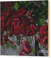 Red Velvet Roses Wood Print