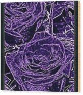 Velvet Sterling  Wood Print