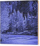 Velvet Winter - Vail - Colorado Wood Print