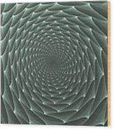 Velveteen Vortex Gray Wood Print