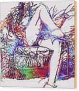 Venal Love Wood Print by Steve K