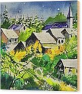Vencimont Watercolor  Wood Print
