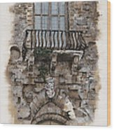 Venetian Balcony 02 Elena Yakubovich Wood Print