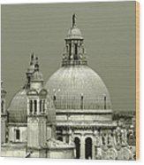 Venetian Basilica Salute Wood Print