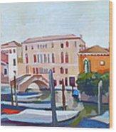 Venetian Cityscape Wood Print by Filip Mihail
