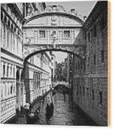 Venetian Classic Bridge Wood Print