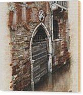 Venetian Door 03 Elena Yakubovich Wood Print