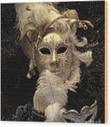 Venetian Face Mask B Wood Print