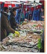 Venetian Fish Mongers Wood Print
