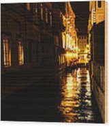 Venetian Golden Glow Wood Print