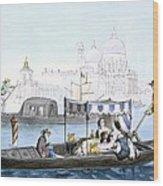 Venetian Gondola, From Vedute Dei Wood Print