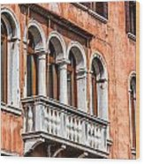 Venetian Houses In Italy Wood Print