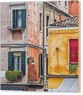 Venetian Houses. Italy Wood Print