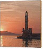 Venetian Lighthouse Wood Print